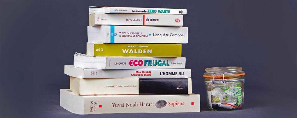 livres zerowaste zéro déchet, book club, enquête campbell, antispécisme, eco frugal, l'homme nu, sapiens